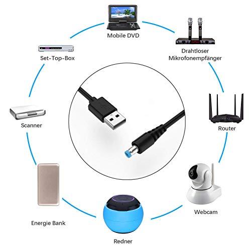 NEUE DAWN Multi Stecker Universal Konverter USB Kabel auf DC Stecker Hohlstecker Adapterkabel 5,5 x2,1 mm zu 7 Stecker: 2,5 x0,7 mm/3,0 x1,0mm/3,5 * 1,35mm/4,0 x1,7 mm/5,5 x2,5 mm/Mini-USB/Micro-USB