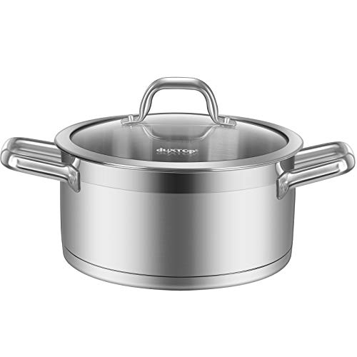Duxtop Professional Stainless Steel Stock Pot with Glass...