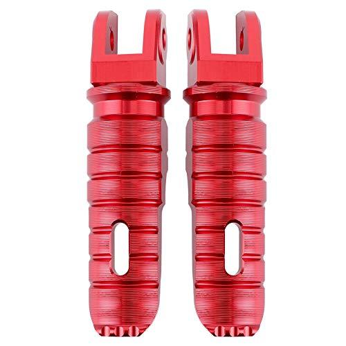 Bediffer Reemplazo de Clavijas de pie de modificación Trasera Duradera para Motocicleta Accesorio de Motocicleta(Red)