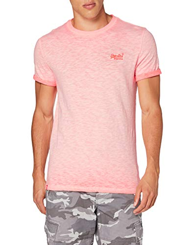 Superdry OL Low Roller tee Camiseta, Rosa (Hyper Fire Coral Py7), XS para Hombre
