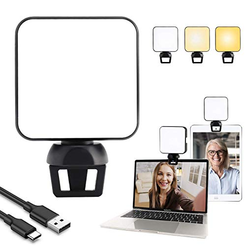 Video Conference Lighting Kit,Laptop Light for Video Conferencing,Zoom Light/Lighting for Zoom Meetings,Remote Working, Self Broadcasting and Live Streaming, Computer with Clip