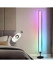 "Hoek staande lamp, RGB Multicolour Effecten Dimmable LED, 55""Smart Tall staande lamp voor woonkamer slaapkamer Gaming Room, Night sfeer, Nordic Decoratie Home,Remote control"