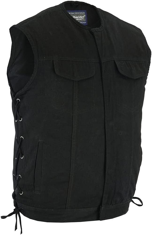 Daniel Smart Men's Denim Vest - Upgraded Style Gun Pockets