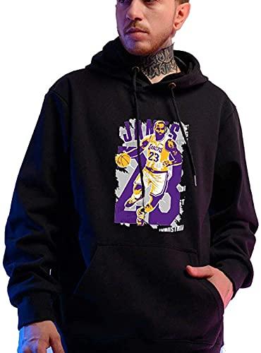 CPBY Masculino Y Femenino Impreso Suéter con Capucha De Manga Larga Hoodie Baloncesto Deportes Sweater Transpirable Suéter Primavera Otoño Jersey Hombres Y Mujeres Unisex, B - L