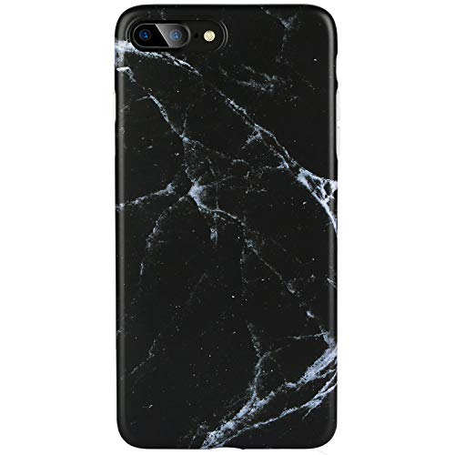 Marble iPhone 7 Plus 8 Plus Case Black for Men,DICHEER Ultra Thin Anti Scratch Protective Case,Flexible Smooth IMD TPU Soft Case Rubber Silicone Skin Cover for iPhone 7 Plus or iPhone 8 Plus 5.5 inch