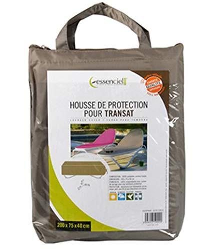 PEGANE Housse de Protection pour transat Coloris Taupe - Dim : 200 x 75 x 40 cm