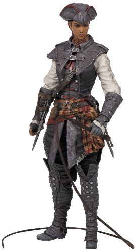 Del videogioco Assassin Creed II Sono compresi: machete, cerbottana, pistole e frusta Misure: circa 15 cm di altezza