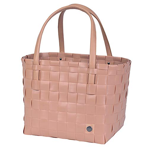 Handed By - Color Match - Shopper/Einkaufskorb/Einkaufstasche/Flechtkorb - Copper Blush/Altrosa - 27 cm x 31 cm x 24 cm