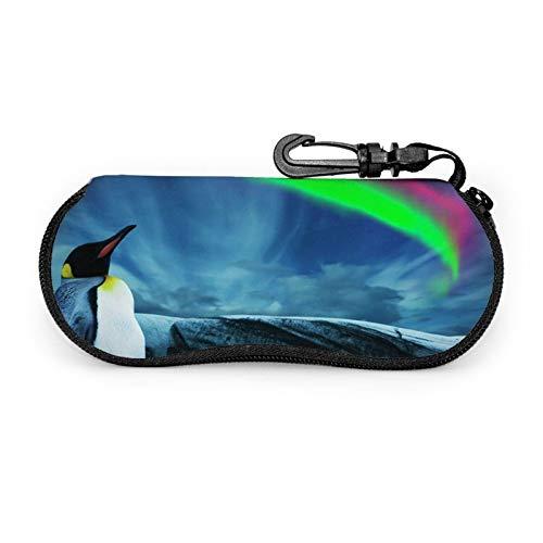 Gafas de sol gafas caso caso caso caso con clip para cinturón pingüino bajo luces del sur Aurora Zip Ultra Light gafas bolsa