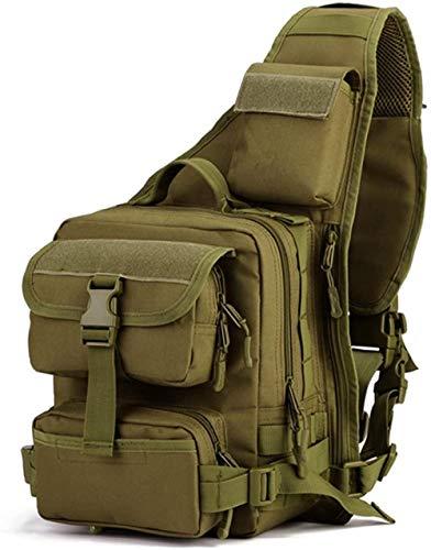 ACOMOO Tactical Military Sling Pack Pecho Mochila Molle Mochila Bolso de hombro Marrón oscuro