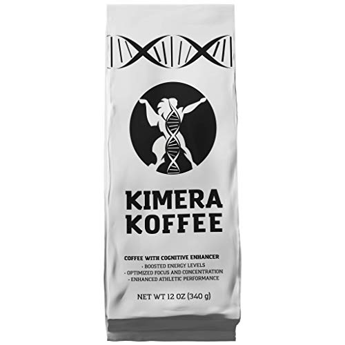 Kimera Koffee Original Blend - Organic Ground Coffee Infused with Essential Brain Vitamins (12oz), Rich, Organic Coffee Beans with Cognitive Enhancers to Boost Energy Levels, Brain Function, Memory, F