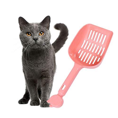Katzenklo Schaufel Katzenschaufel Dauerhafte Katzenstreuschaufel Pooper Scooper Katzen Haustierstreuschaufel Katzenstreuschaufel Mit Ständer pink