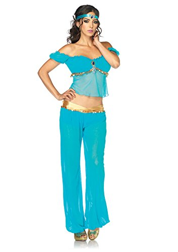 Leg Avenue Costumes Disney 3Pc.Jasmine Off The Shoulder Top Harem Pants Head Piece