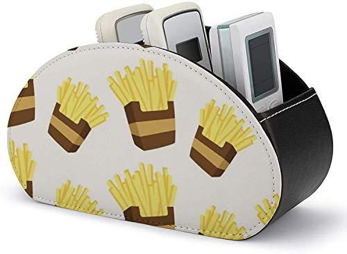 Remote Caddy Box - Scatola organizer per telecomando TV in pelle PU, organizzazione e stoccaggio Baby Hippo con 5 ampi scomparti per telecomandi TV / controller multimediali / forniture per ufficio-p