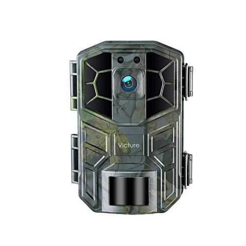 Victure Videocamera da caccia WLAN, 30 MP, 4 K, HD, con sensore di movimento, visione notturna, IP66, impermeabile, per sorveglianza di sicurezza a casa e osservazione di animali e piante
