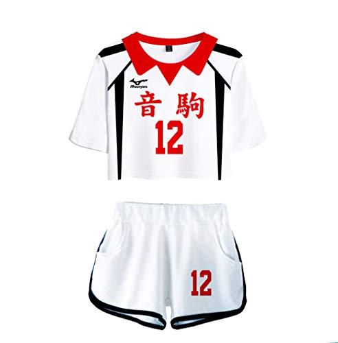 Volleyball Club Shorts T-Shirt Set, Haikyuu !!Nekoma High School Kenma Kozume Cosplay Kostüm Jersey Sportbekleidung