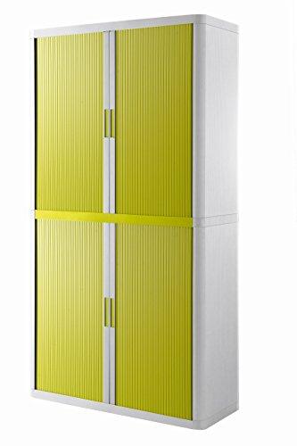 Paperflow Rollladenschrank easyoffice BxTxH 86x37,5x204cm weiß/grün