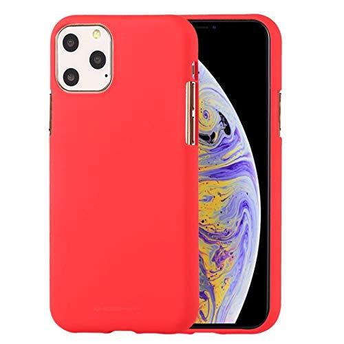 Durable SOFE Feeling TPU Funda a Prueba de Golpes y arañazos Case for iPhone 11 Pro MAX (Color : Red)