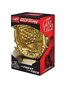 OFFICIAL RAWLINGS GOLD GLOVE AWARD REPLICA IDEAL FOR PLAYER AWARDS/TROPHIES, AUTOGRAPHS AND GIFTS COMES WITH GLOVE STAND, to allow for prominent display in your trophy case or office CUSTOMIZABLE NAME PLATE, to allow for unique awards/trophies or aut...