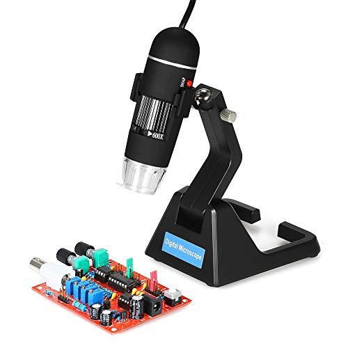 IGOSAIT Lector de Asistencia, S09 25X-600X digital de 2,0 MP lupa del microscopio continuo de alta gama soporte universal