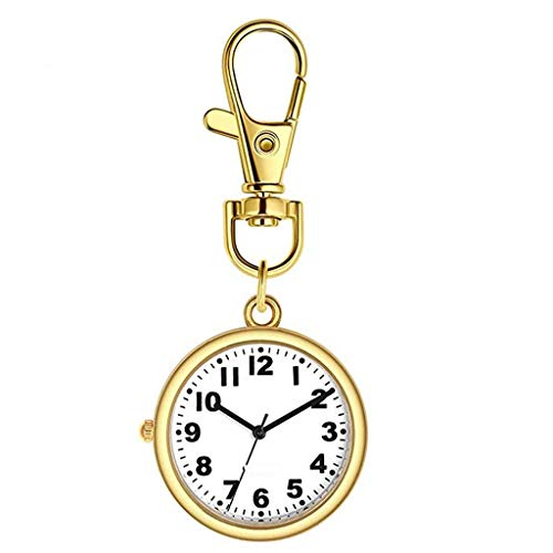 YUTRD ZCJUX Elegante y Médico-específica Simple de tórax Reloj Colgante de Bolsillo Impermeable Luminoso retráctil Linda de la Historieta (Color : A)
