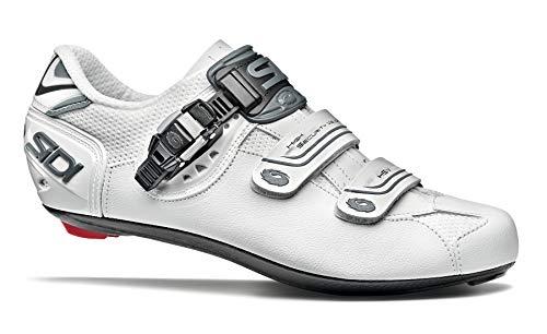 SIDI Genius 7 - Zapatillas de Ciclismo para Hombre, Color Blanco Brillante, Talla 51