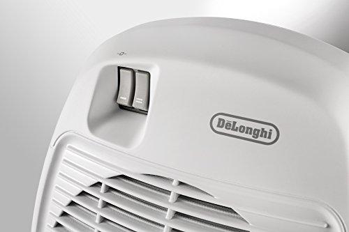 De'Longhi Termoventilatore HVA 0220, Solamente per Riscaldamento, 1000/2000 W, Per stanze fino a 60 m³, Bianco