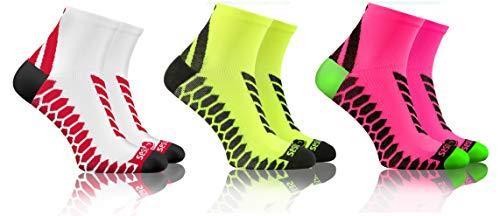 sesto senso Calze Corte Sportive Colorate Jogging Donna Uomo 3-12 Paia Bianco Giallo 39-42 3 Pack Rosa Mix
