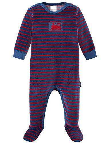 Schiesser Baby-Jungen Zug Anzug mit Fuß Zweiteiliger Schlafanzug, Blau (Blau 800), 86 (Herstellergröße: 086)