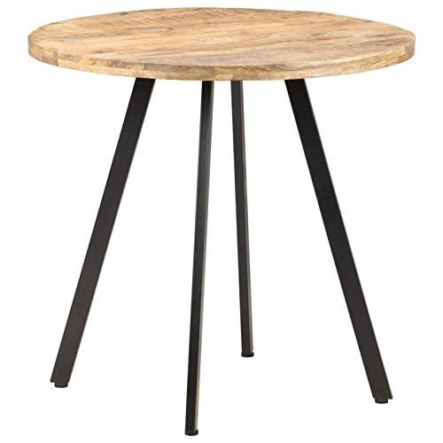 Tidyard Table de Salle à Manger en Bois Table de Cuisine Rond 80 cm