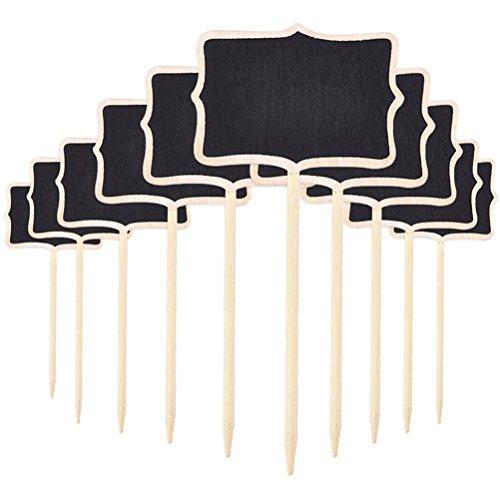 ROSENICE 10 unids Mini Pizarras de Número Señales de Tablero de Mesa Signos de Mensajes para Boda Fiesta