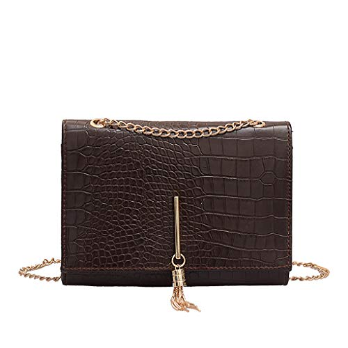 Buy Discount Crossbody Satchel Bag Small Saddle with Tassel Purse with Metal Chain Strap Tote Should...