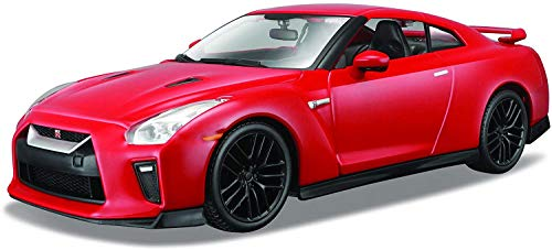 """Bburago B18-21082 Nissan GT-R 2017\"""" Diecast Kit de modelo, escala 1:24 , color/modelo surtido"""
