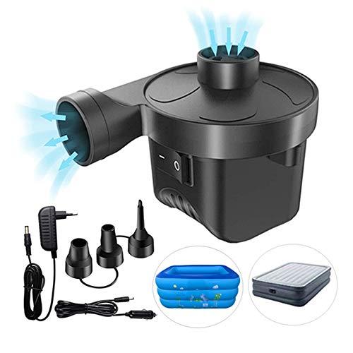 Air Pump for Pool Inflatables,Astarexin Air Mattress Pump, Electric Inflator Deflator Pump,Air Mattress Pump with Car Adapter,3 Nozzles 110V AC/12V DC