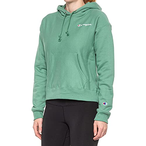 Champion Women's Reverse Weave Hoodie, Thermal Green, X-Large