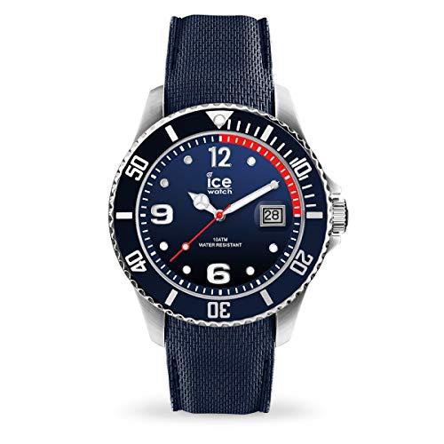 Ice-Watch - Ice Steel Marine - Montre Bleue pour Homme avec Bracelet en Silicone - 015774 (Large)