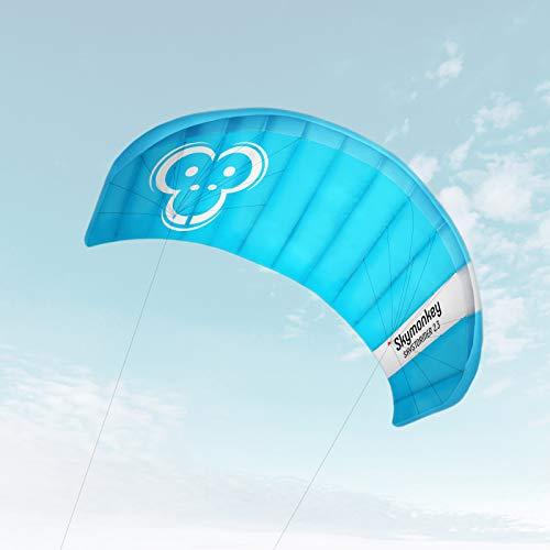 Skymonkey Skystormer 2.3 Aquilone da trazione/Kite (incl. Barra di Controllo) Ready 2 Fly 230 cm campata [Blu]