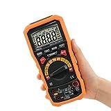Slscyx Multímetro Digital de Rango Manual automático con TRMS 1000V Capacitancia de Temperatura y Prueba de frecuencia