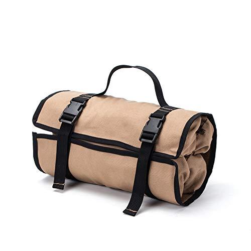 Super Roll Werkzeugtasche Rolle, Werkzeugtasche Sling,Segeltuch Werkzeug Organizer Eimer, Werkzeug Roll-Up-Tasche – Off-Road Auto Camping Ausrüstung