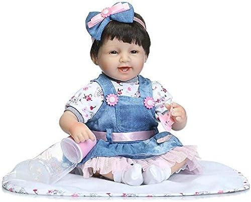 QXMEI Simulation Reborn Puppe Niedliche Realistische Baby 40cm   mädchen Spiel Haus Spielzeug Geschenk,40cm