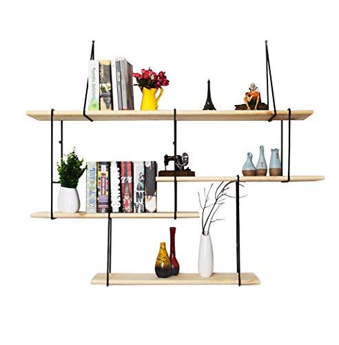 XiuHUa Estante para libros - repisa de hierro forjado, estantería pequeña, soporte de exhibición para colgar en la pared de la sala de estar, decoración de almacenaje para colgar en la pared del hogar