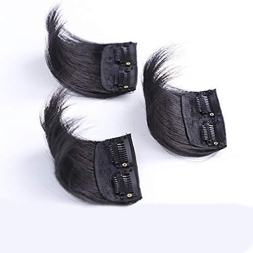 Souple Fashian Pad Cheveux Moelleux Cheveux Courts Une Pièce Pad Véritable Pince à Cheveux En Extensions De Cheveux Pour Les Femmes fashion (Color : [1 clip] 10cm light brown)