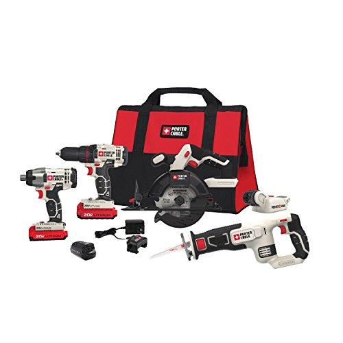 PORTER-CABLE 20V MAX Cordless Drill Combo Kit, 6-Tool (PCCK617L6)