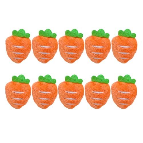 Amosfun 10Pcs Spilla Carota Peluche Spilla a Forma di Carota Distintivo Collare Personailzed Art Pin Regalo di Favore del Partito di Pasqua per Bambini Donna Ragazza Arancione