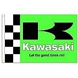 HomeKing Kawasaki Flag Banner 3X5FT 100% Polyester