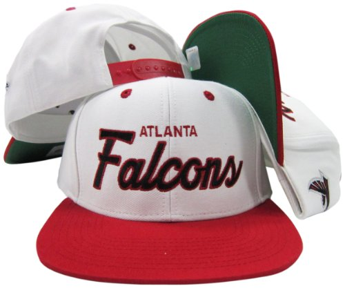 Atlanta Falcons White/Red Script Two Tone Adjustable Snapback Hat/Cap
