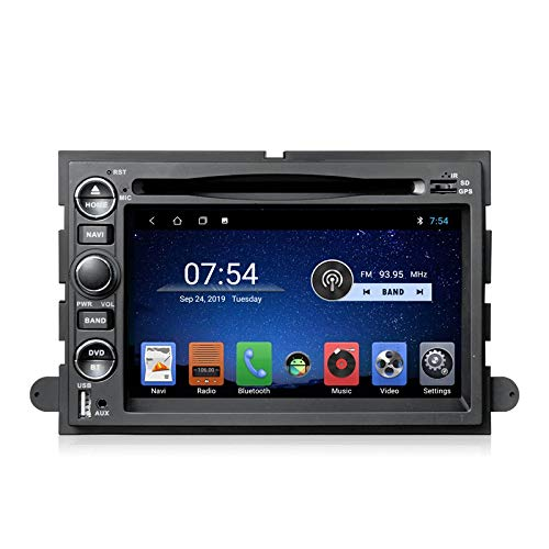 LINGJIE Double DIN CAR Radio Radio Stereo GPS Navigation für Ford F150 F350 F450 F550 F250 Fusion Expedition Mustang Explorer Edge HD Multi-Touch-Bildschirm,4+64g WiFi+4g dsp+carplay