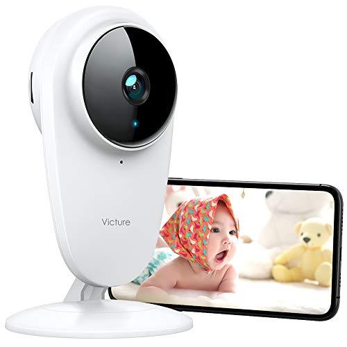 Victure 1080P IP 2.4GHZ WiFi Cámara de Vigilancia Vigilabebés Cámara con Detección de Sonido y Seguimiento de Movimiento Camara vigilancia
