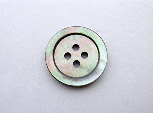 裏にまでこだわった 黒蝶貝ボタン 定番型 SH-117 4穴 (25mm)