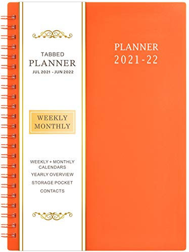 """2021-2022 Planner - Jul 2021- Jun 2022, 6.25"""" × 8.3"""", Academic Planner 2021-2022 with Weekly & Monthly Spreads, Strong Twin-Wire Binding, Round Corner, Improving Your Time Management Skill"""